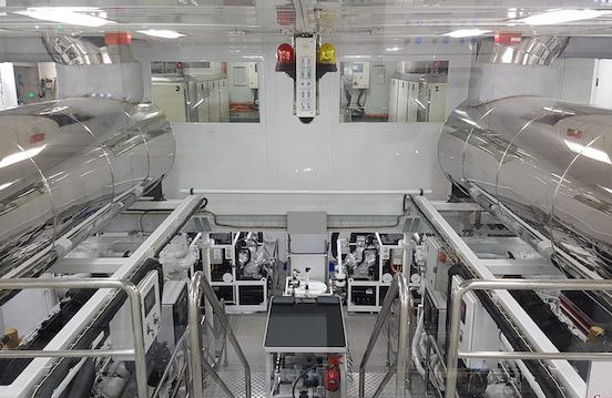Picture of engine room for super yacht training