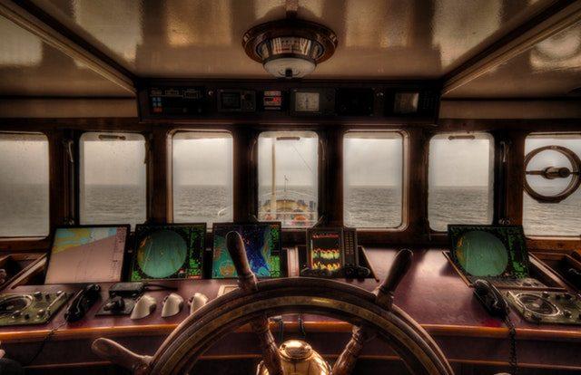 Yacht Wheel House Navigation